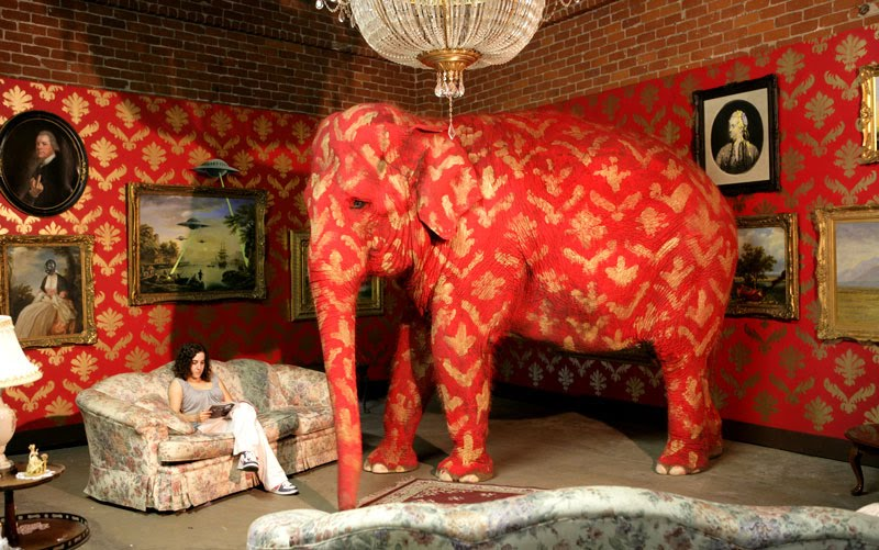 The elephant in the room - Image from Banksy exhibition