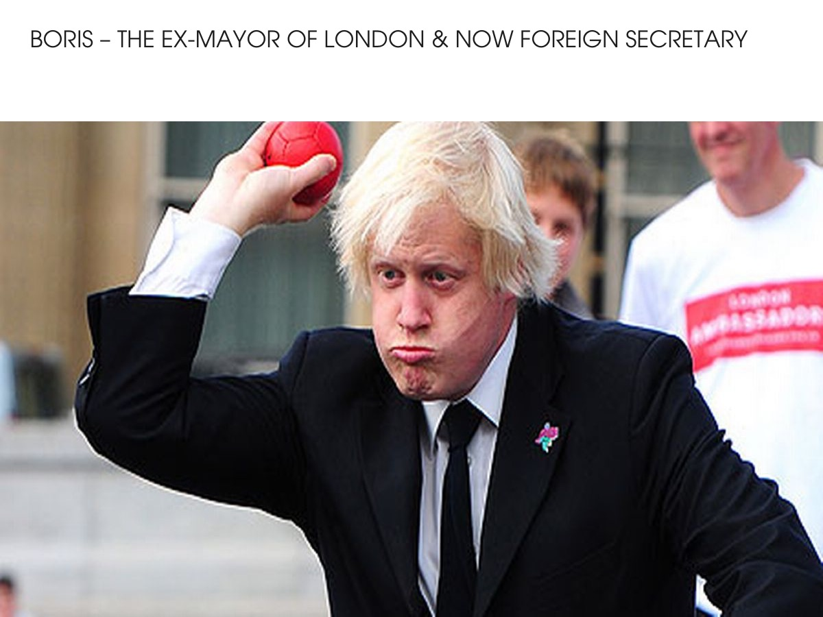 Boris - Ex.Mayor of London