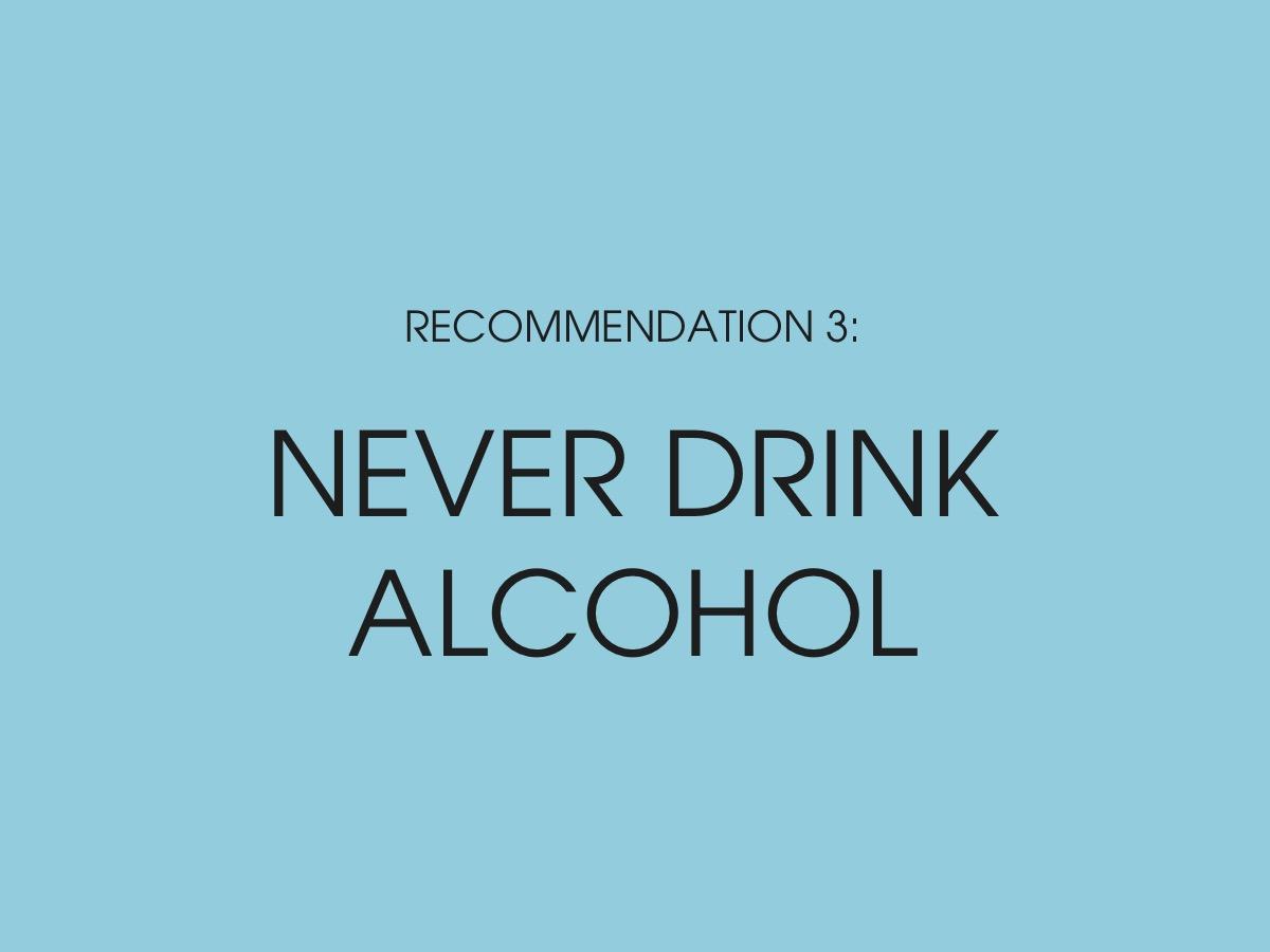 Nietzsche - Never drink alcohol