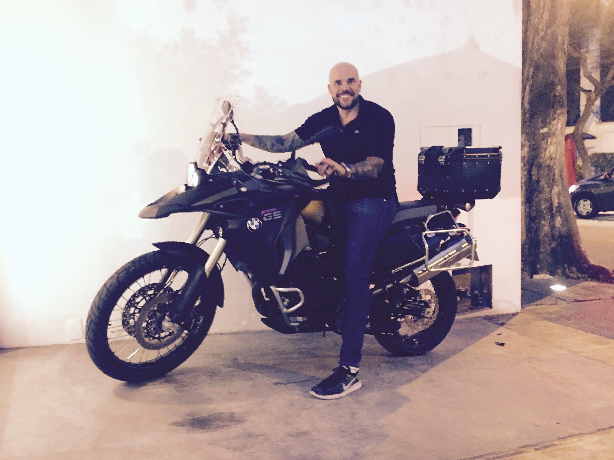 Eduardo on his bike