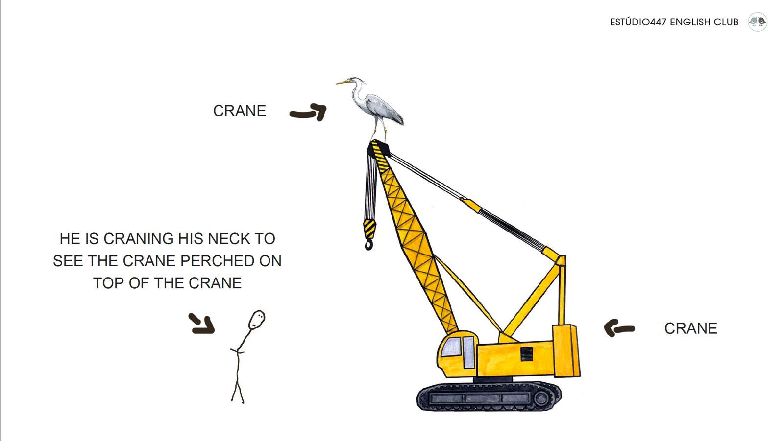 Estúdio447 English Club - Phrasal Verbs - Crane