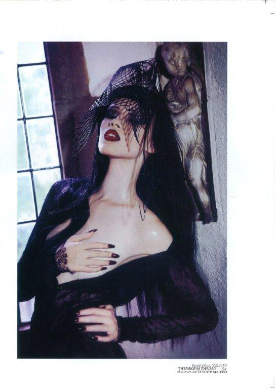 Assisting Georgina Graham on an Ellen Von Unwerth shoot for Vogue.