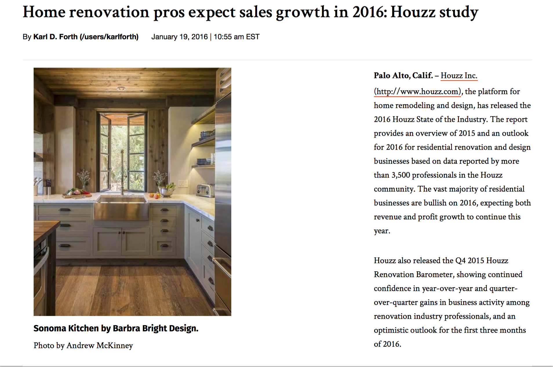 Houzz 2016 Home Renovation Growth
