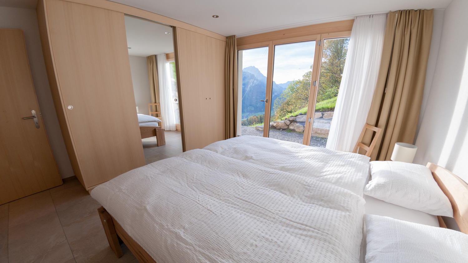 Master bedroom with view of the mountains