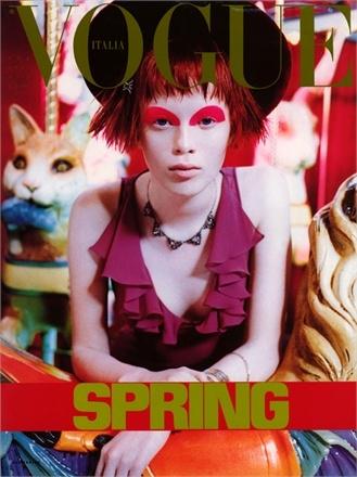 "Karen Elson ""Bad Bob"" 1997 Italian Vogue"