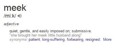 meek definition