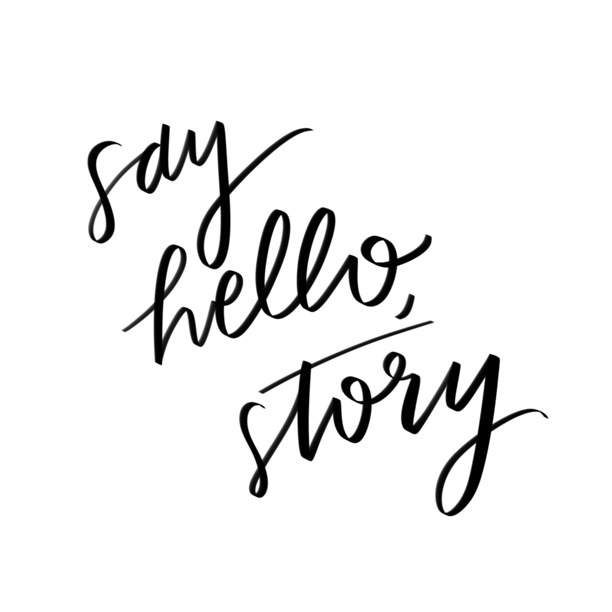 Say Hello, Story logo 2017
