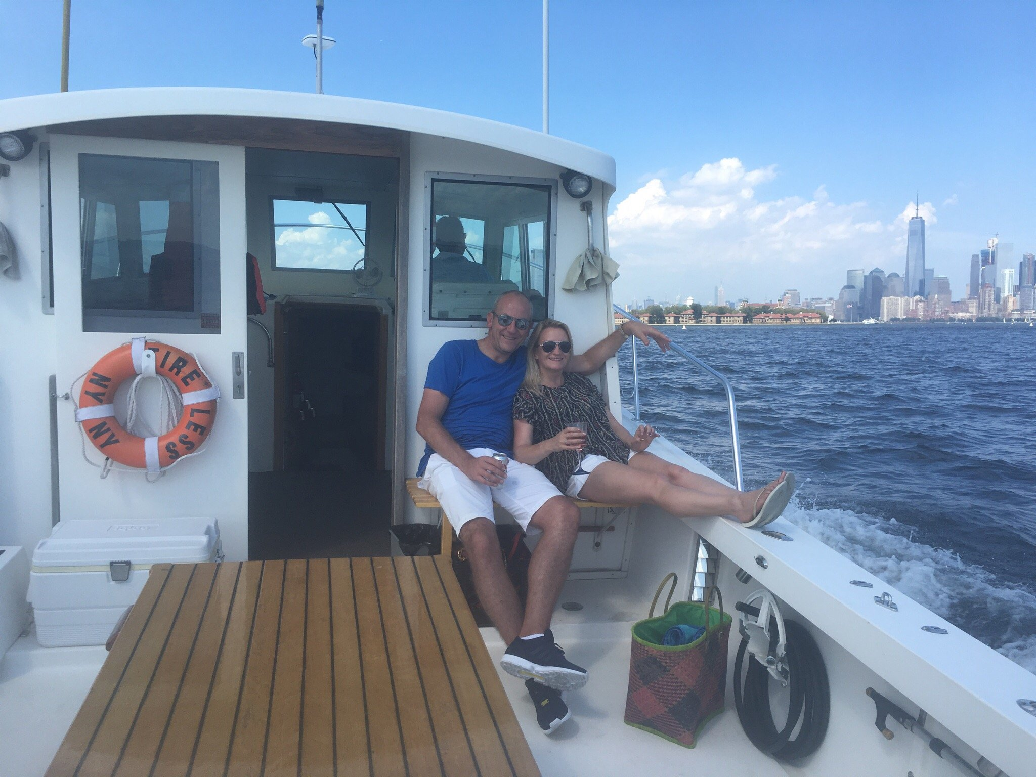 Our guests enjoying a custom charter tour.