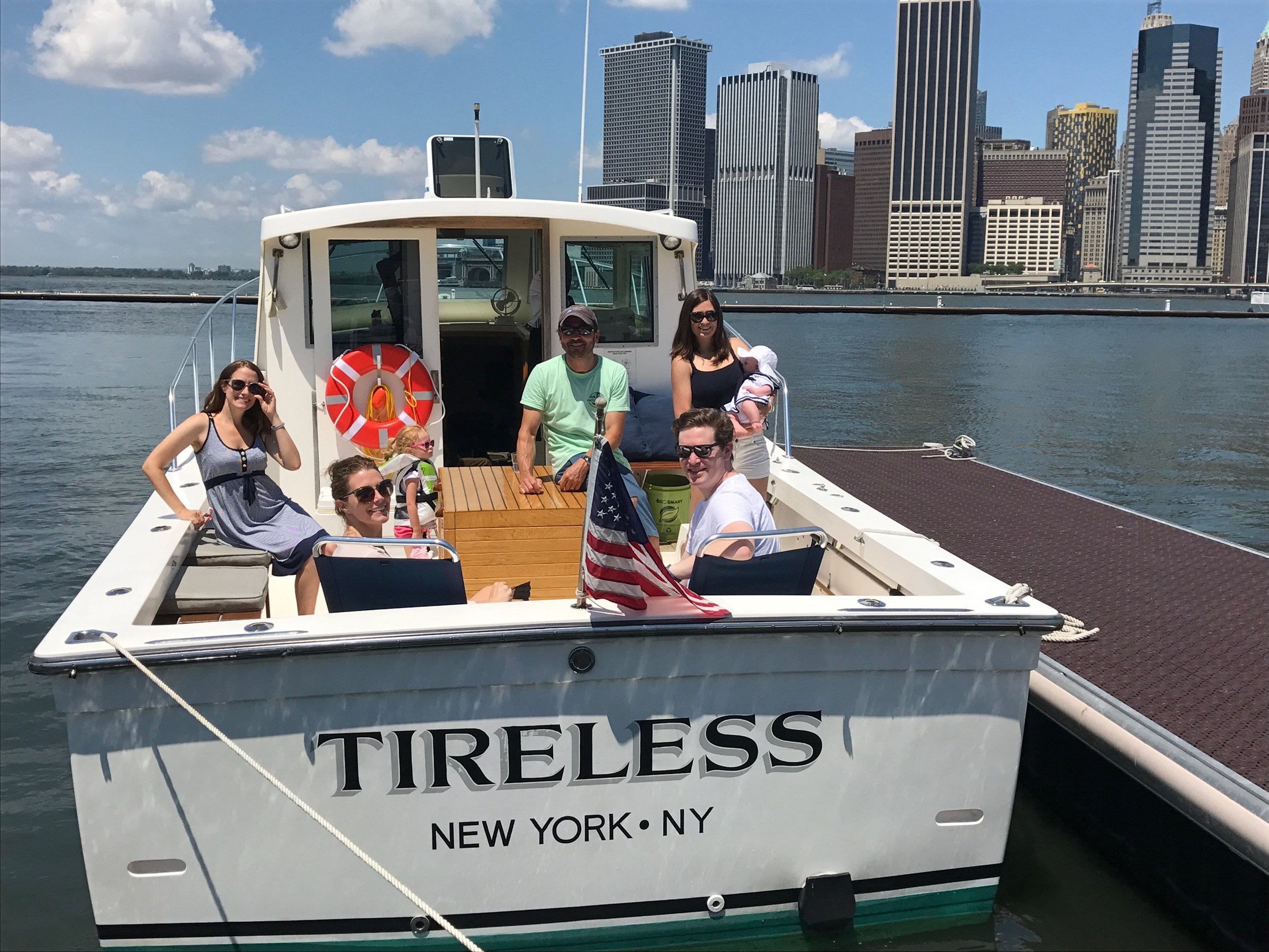 Our boat, Tireless