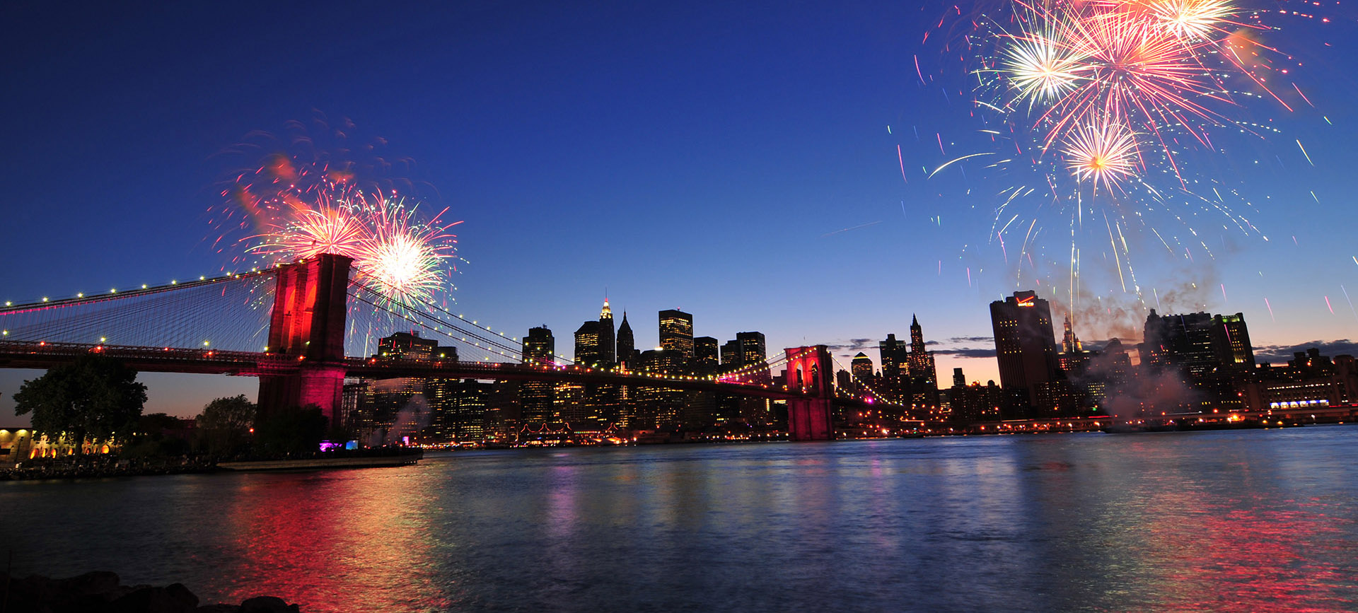 Copy of Brooklyn bridge and Fireworks.