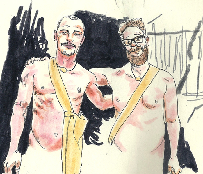 James Franco and Seth Rogan