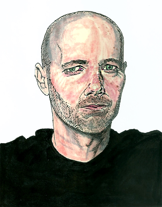 I was thinking about doing a series of portraits of artists that I dig. This one is of  Tommy Kane