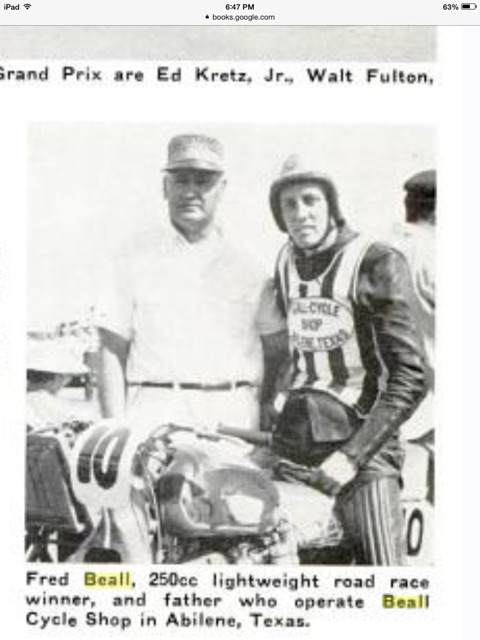 Fred Beall and his Dad 1958