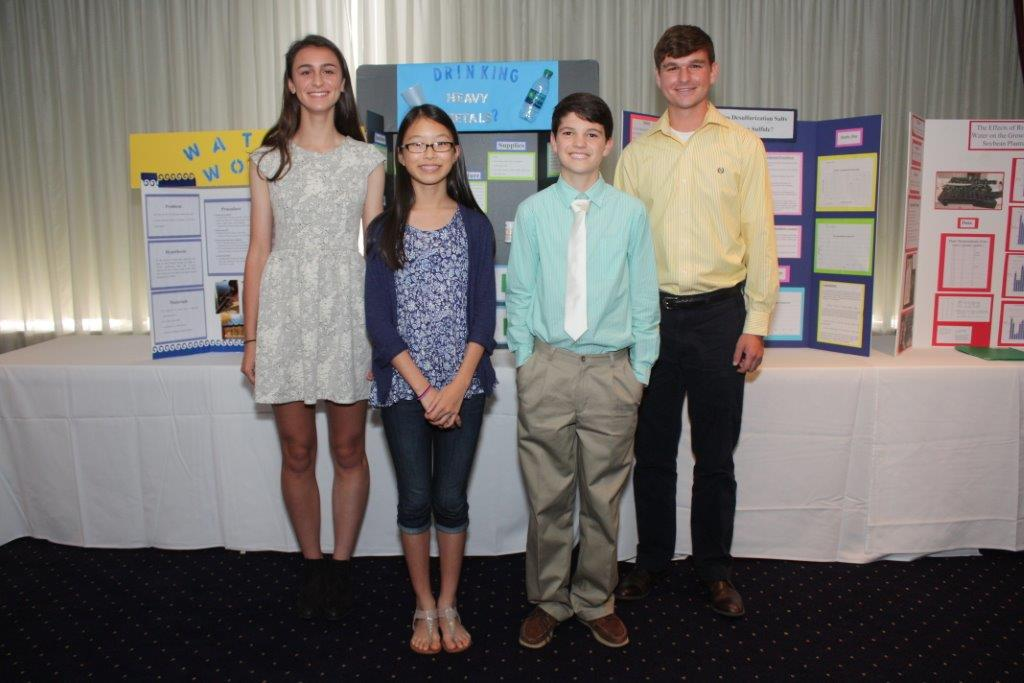 Science Fair Winners attended the Shreveport Geological Society luncheon meeting in May 2015.