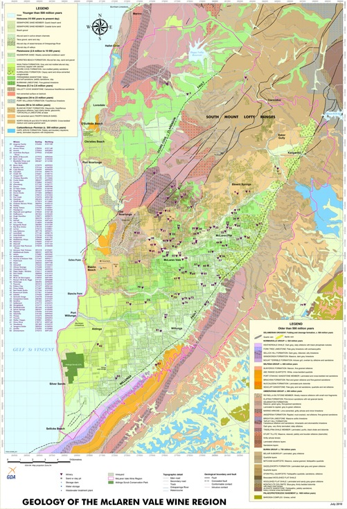 Geology of the McLaren Vale Wine Region, published by PIRSA. Source: http:// mclarenvale.info/