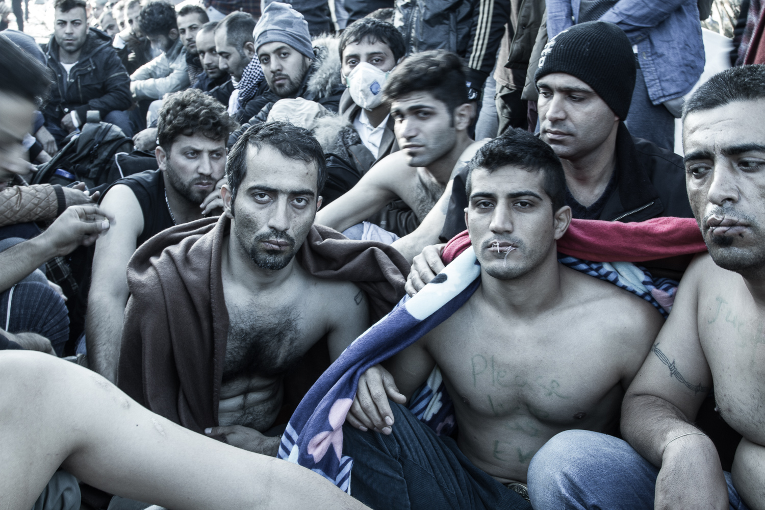 26.  The Refugee Trail--Between Greece and Macedonia.  November 24, 2015.