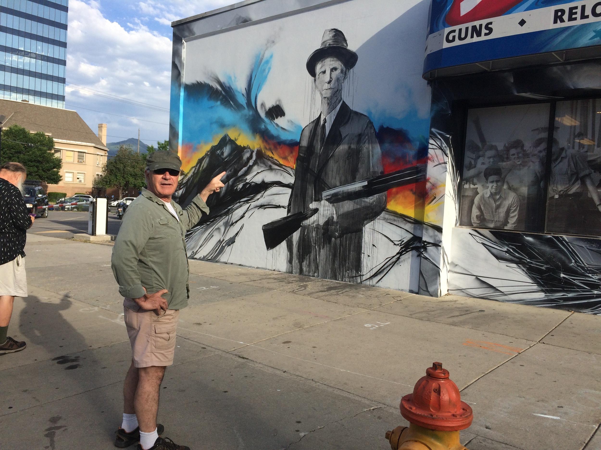 Trent Harris wonders 'what the fuck?' at a gun shop in Salt Lake City.