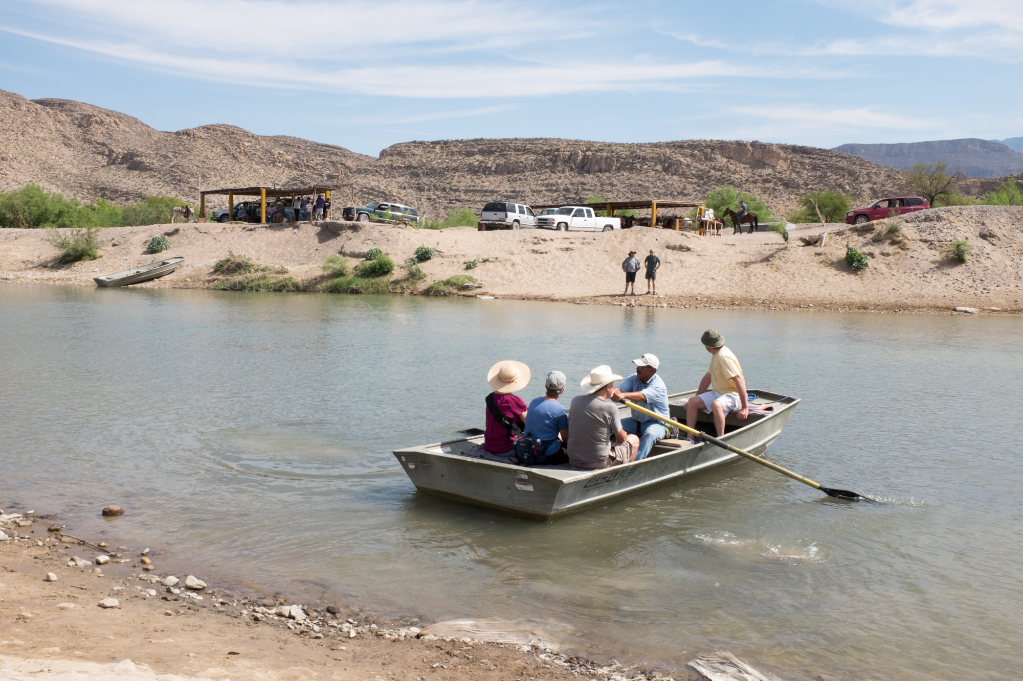 Tourists crossing the Rio Grande at Boquillas del Carmen.