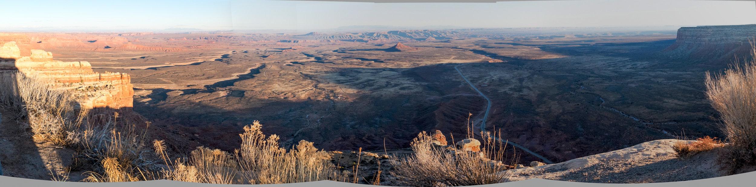 Looking south towards the Navajo Reservation from the top of Cedar Ridge, Utah.