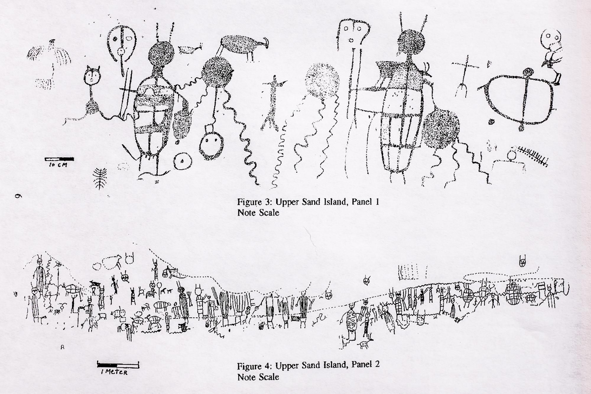 "From  ""Early Rock Art on the San Juan River"" by  Joe Pachak"