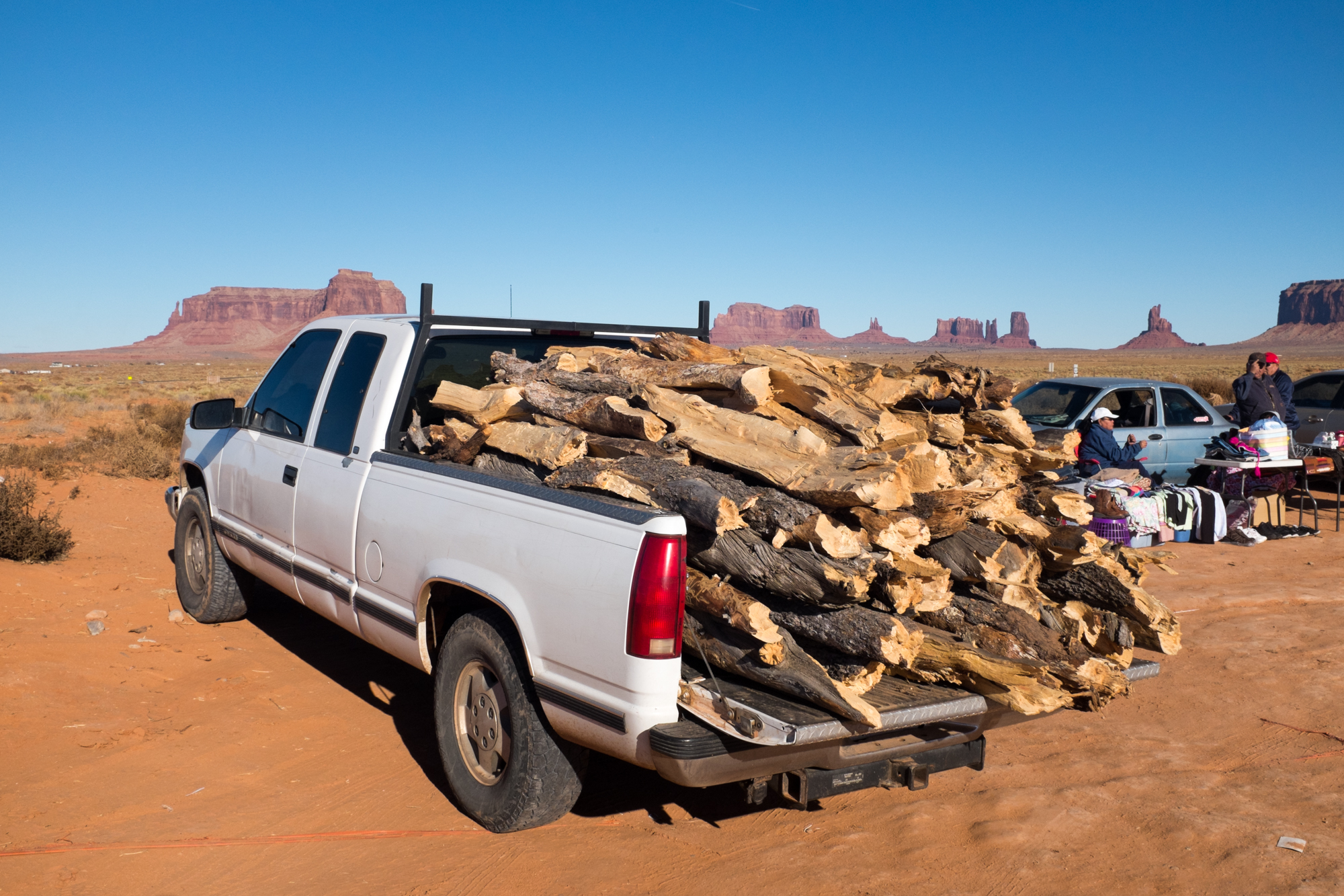 Firewood in Monument Valley, collected on Cedar Mesa to heat Navajo homes.