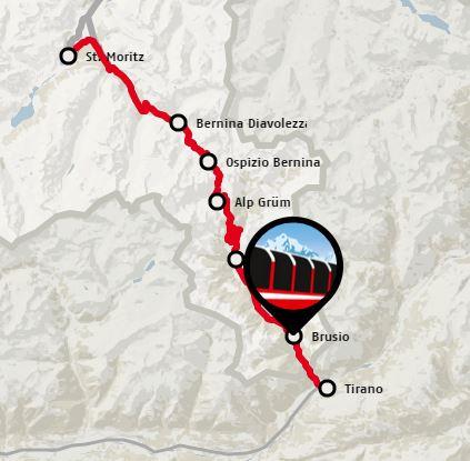 Bernina Panorama Winter Bahn