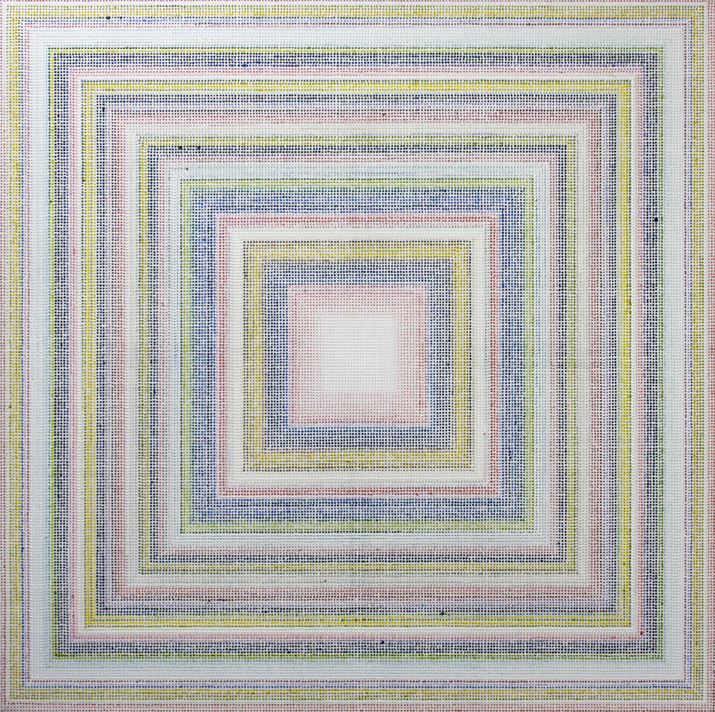 Untitled (RYB), acrylic on canvas, 2011, 60 x 60in | 152 x 152cm