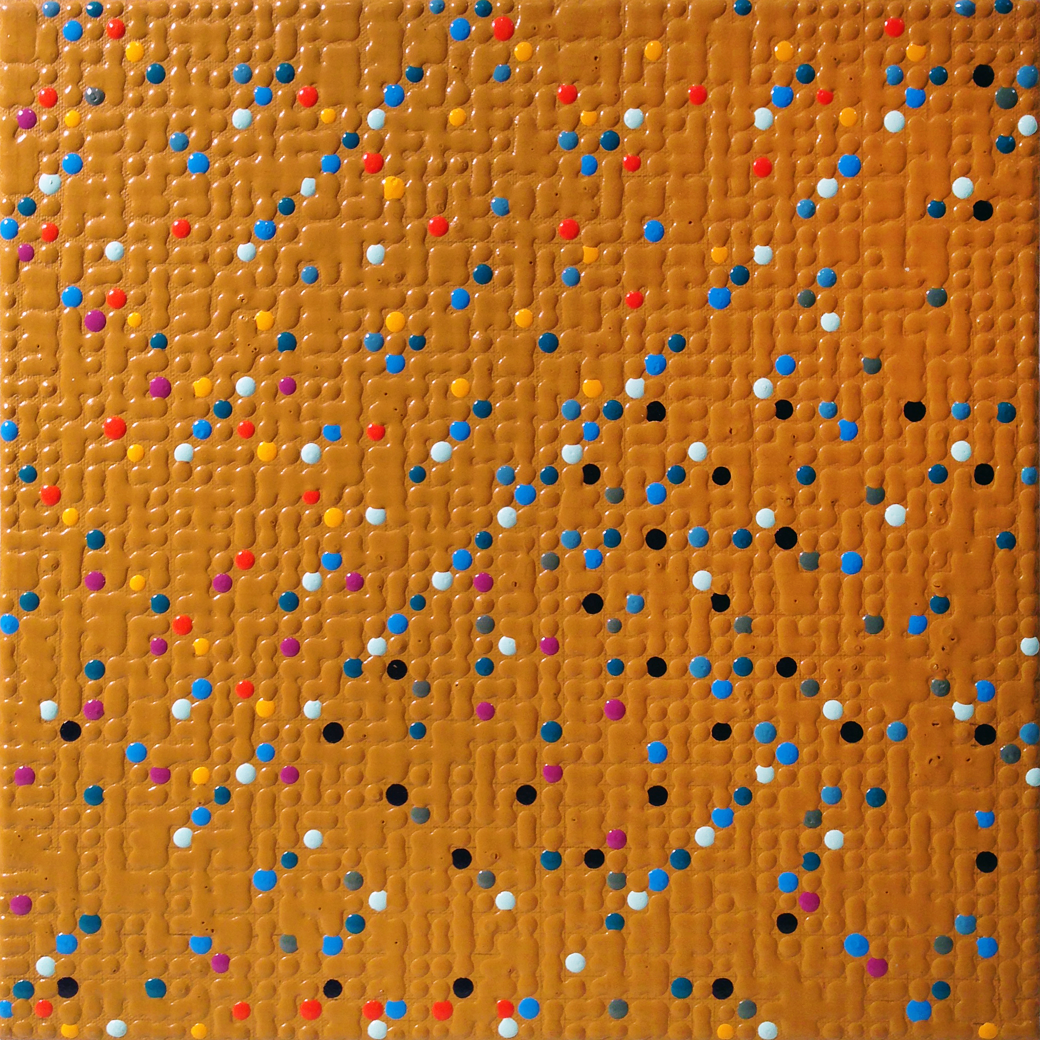 Primary Array #17, acrylic on canvas, 2008, 12 x 12in | 30 x 30cm