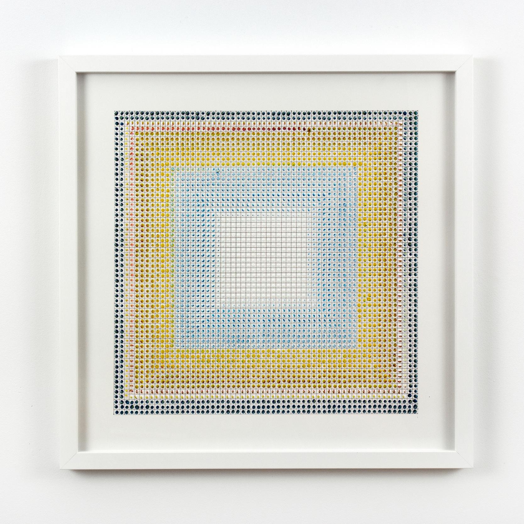 Untitled (BYR), acrylic on paper, 2015, 19 x 19in | 48 x 48cm