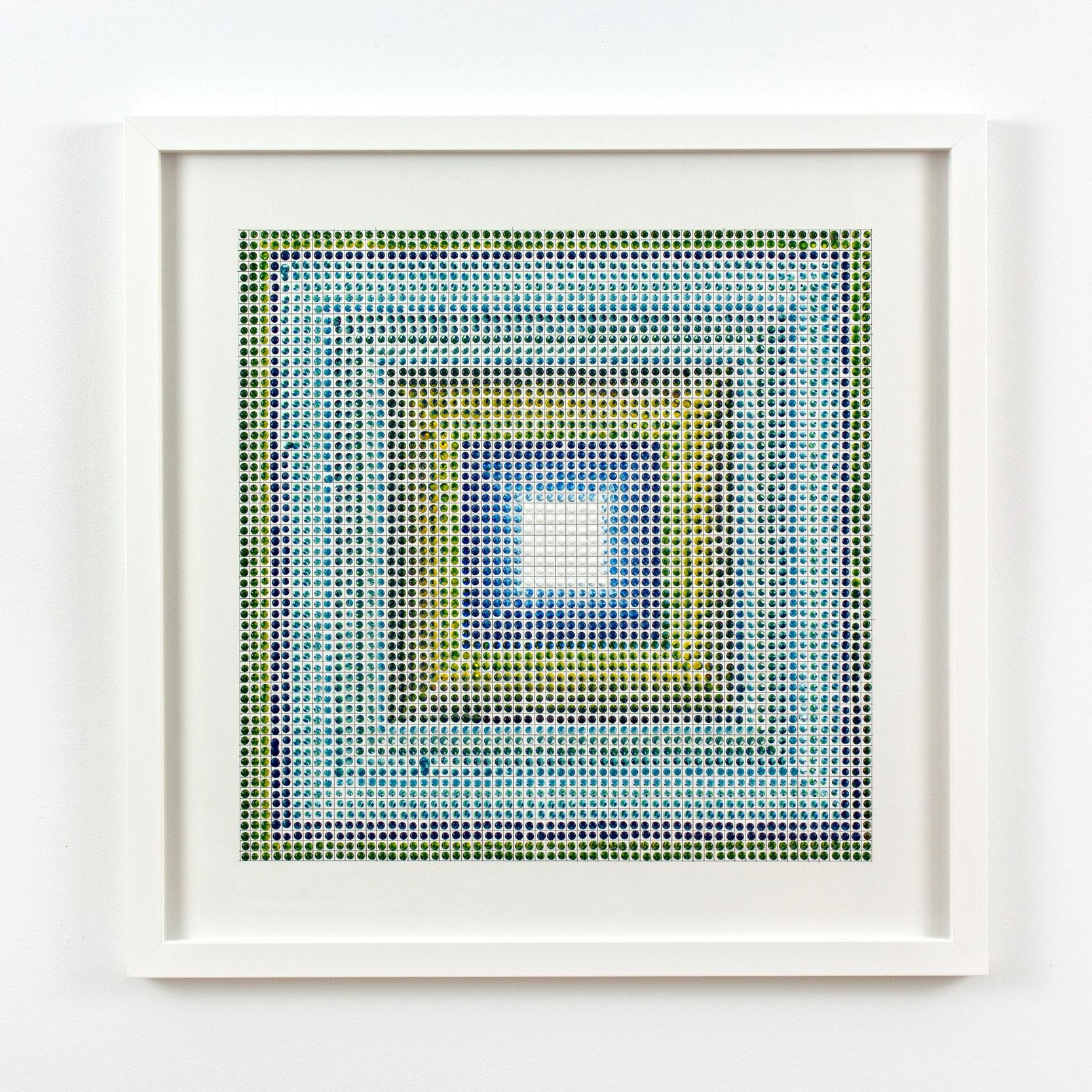 Untitled (BYR) #2, acrylic on paper, 2015, 19 x 19in | 48 x 48cm
