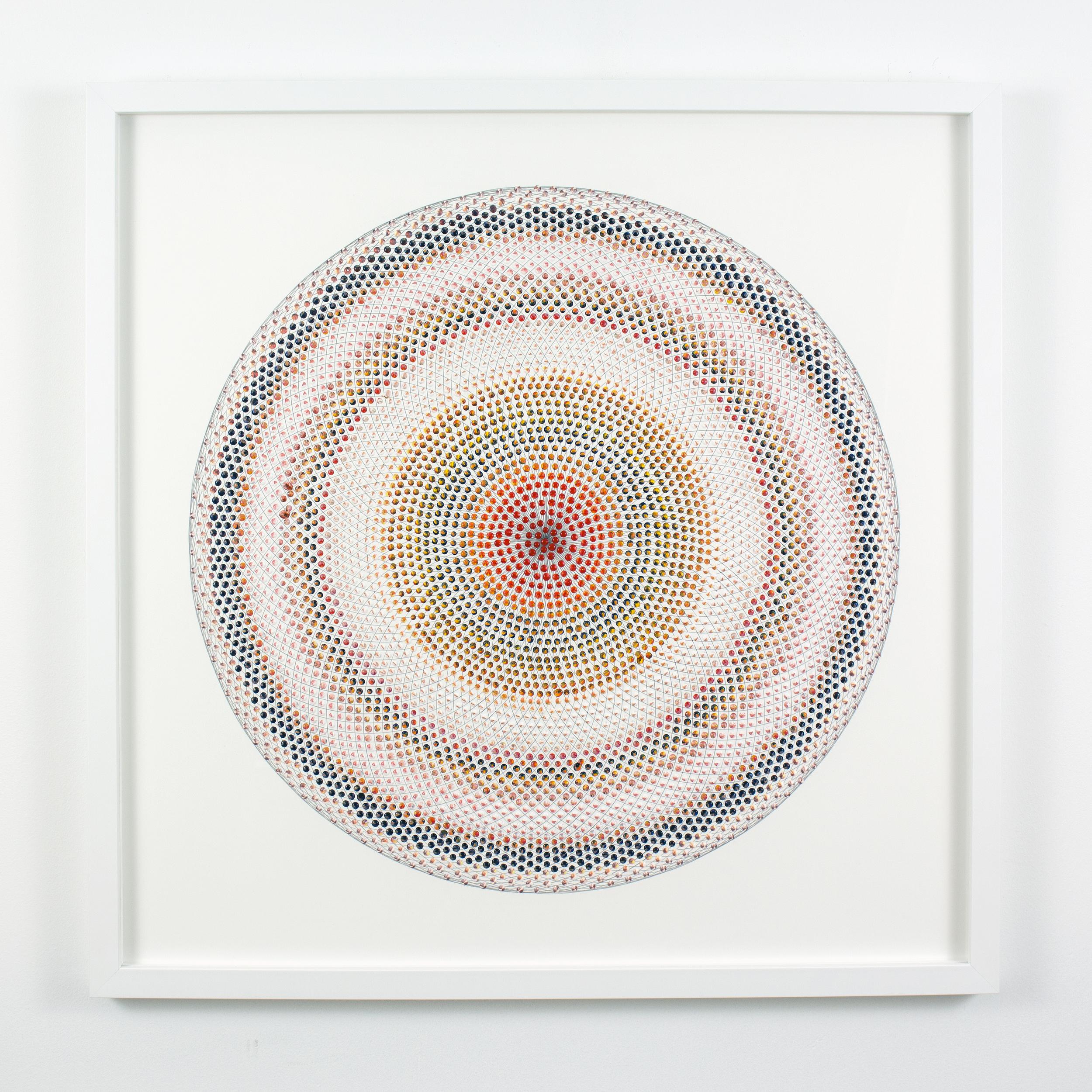Untitled (RYOPg), acrylic on paper, 2015, 24 x 24in | 60 x 60cm