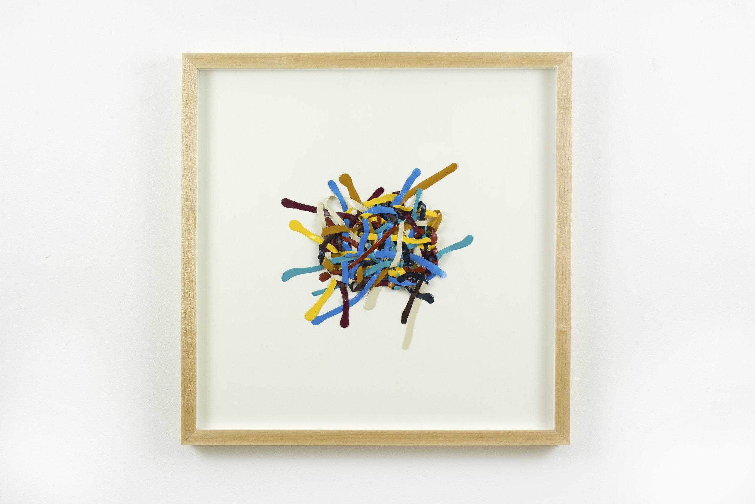 1st Reticulum , acrylic on paper, 2017, 20 x 20in | 50 x 50cm