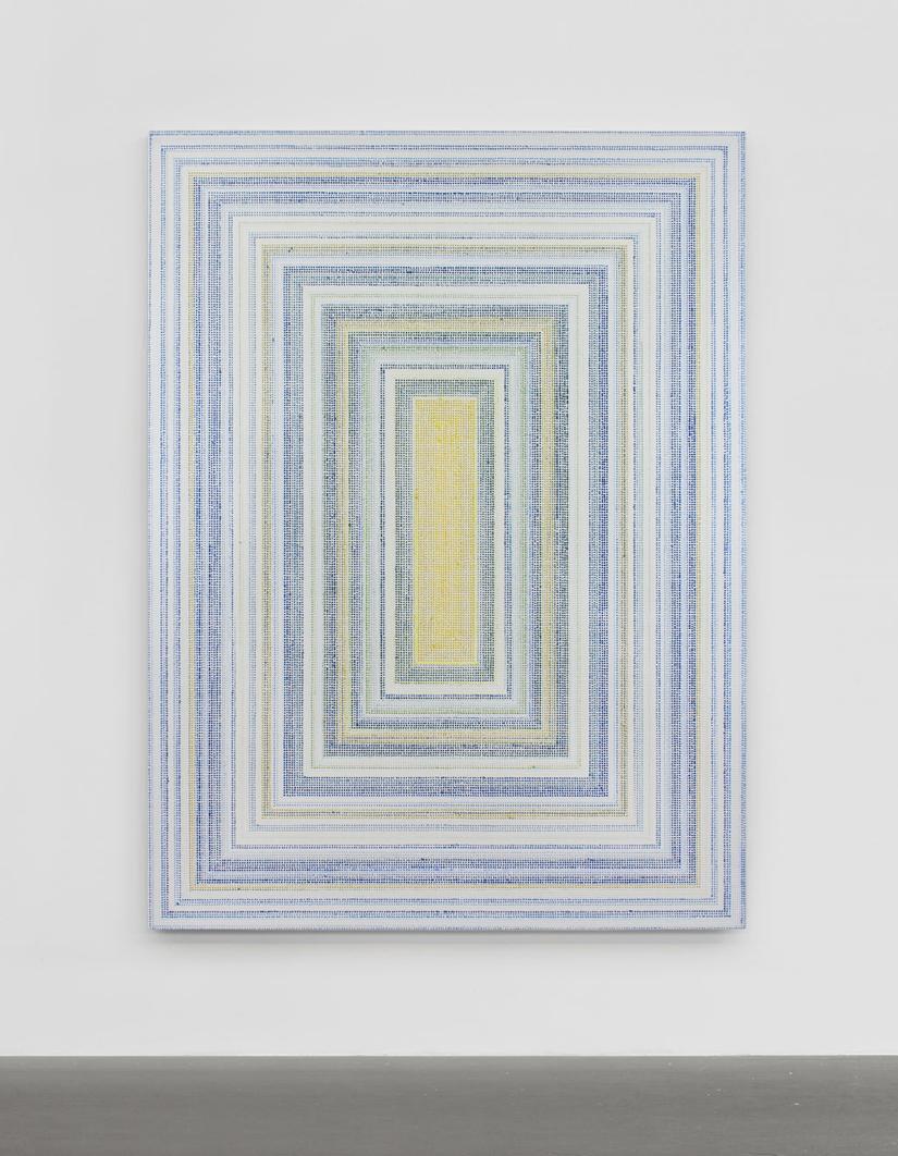Untitled (HyNyCbc), acrylic on canvas, 2019, 80 x 60in | 152 x 203cm