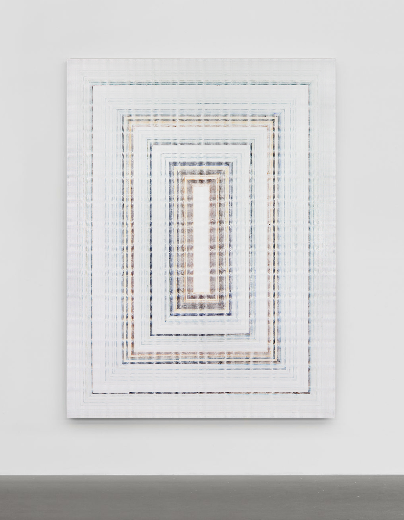 Untitled (BuQngUb) - ghost, acrylic on canvas, 2019, 80 x 60in | 152 x 203cm