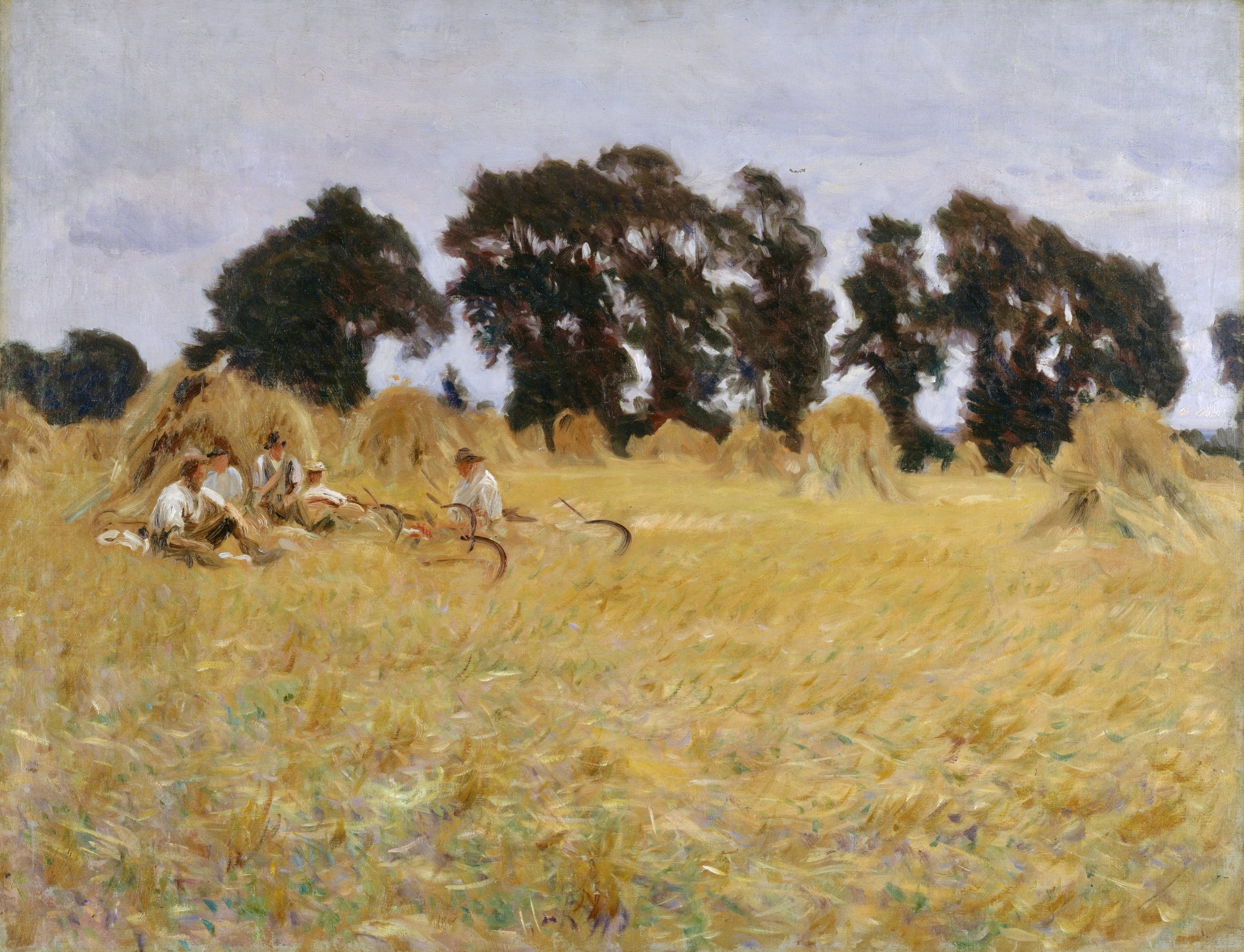 John Singer Sargent, Reapers Resting in a Wheatfield