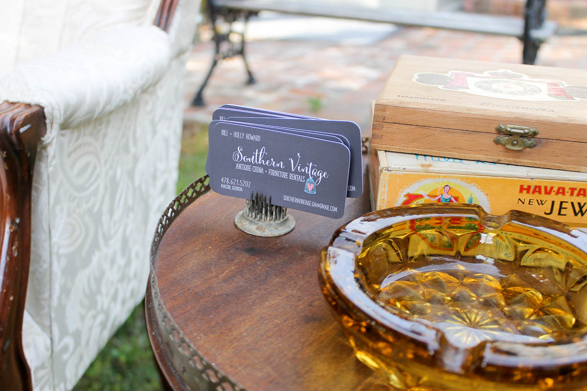 It was a fun change of pace to create masculine lounge areas for this event,  cigar boxes  and  ashtrays.