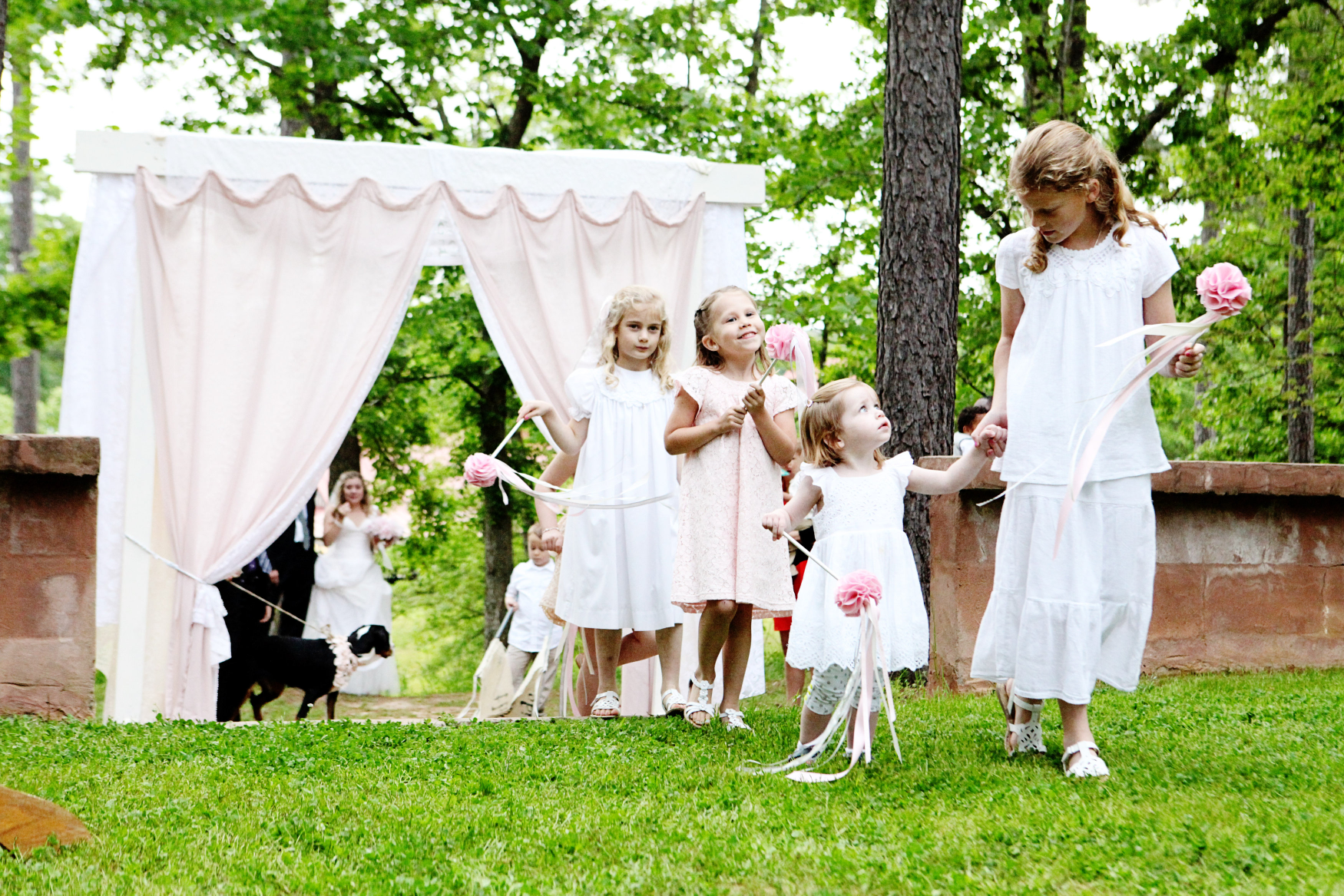 Southern Vintage Military Matrimony Flower Girls