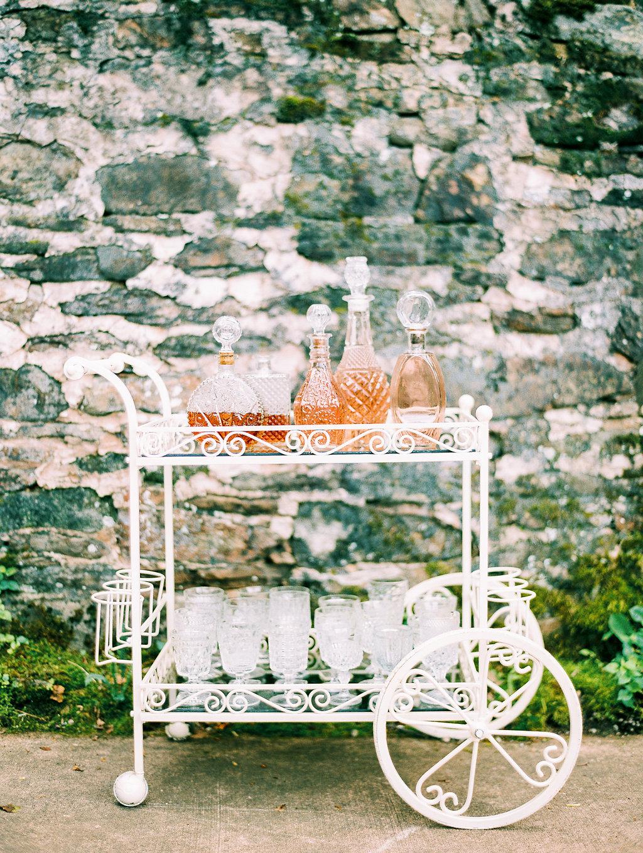 Southern Vintage garden cart bar