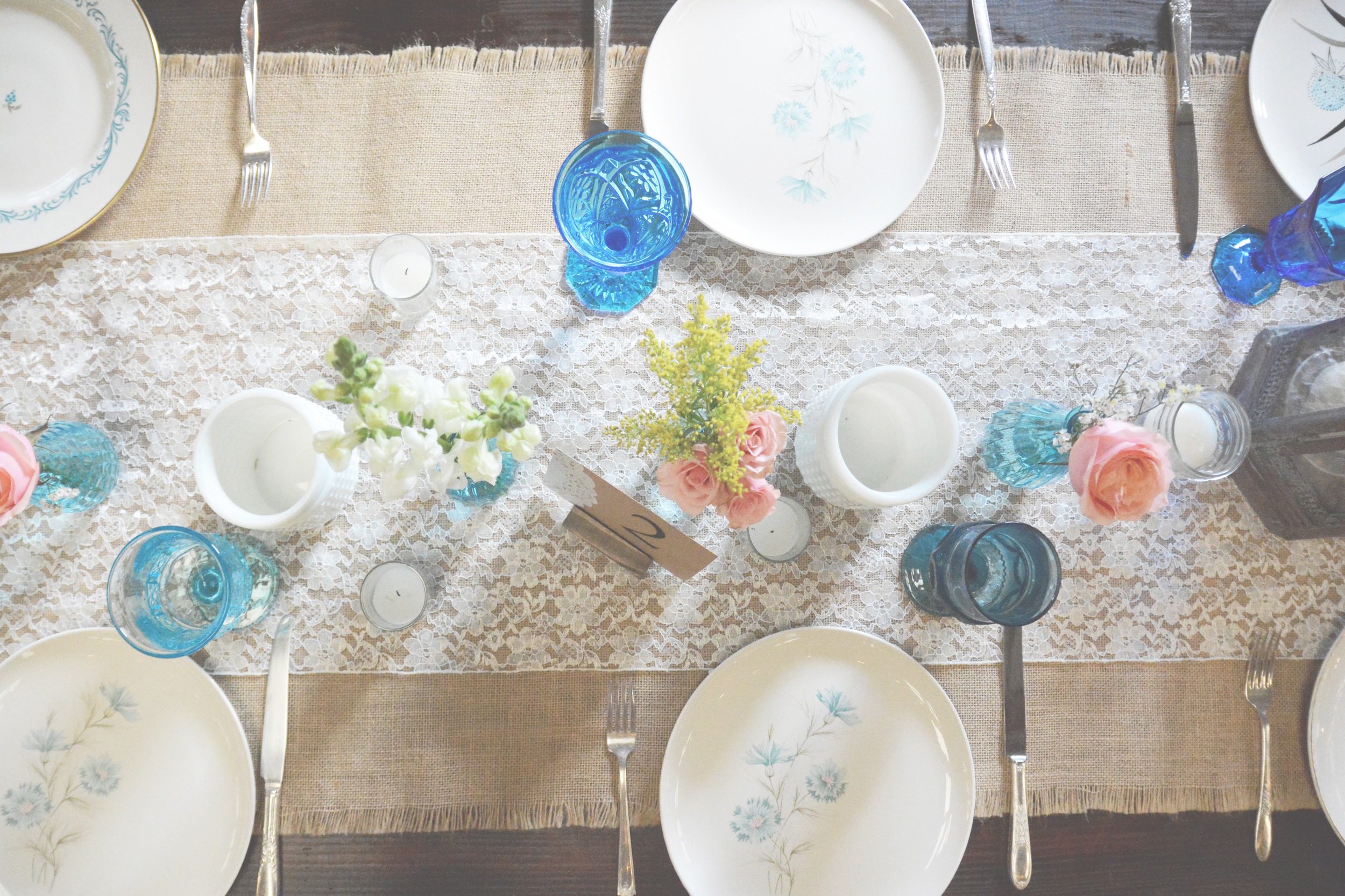 Love the mix of classic and mid-century china.
