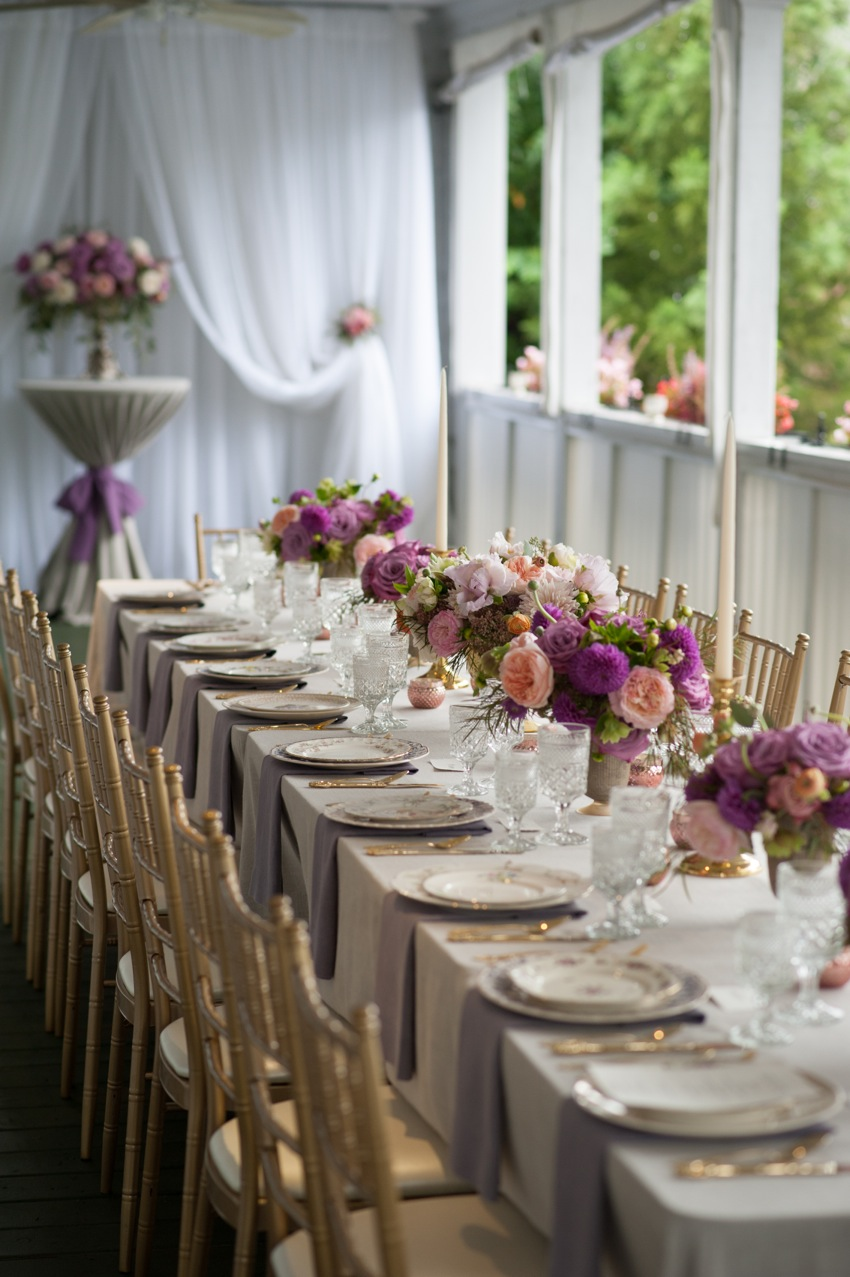 elegant table setting Southern Vintage rentals