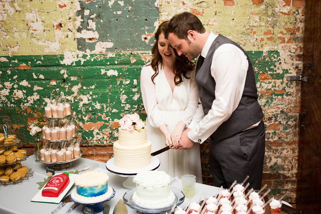 Southern Vintage Dessert Table Cake Cutting