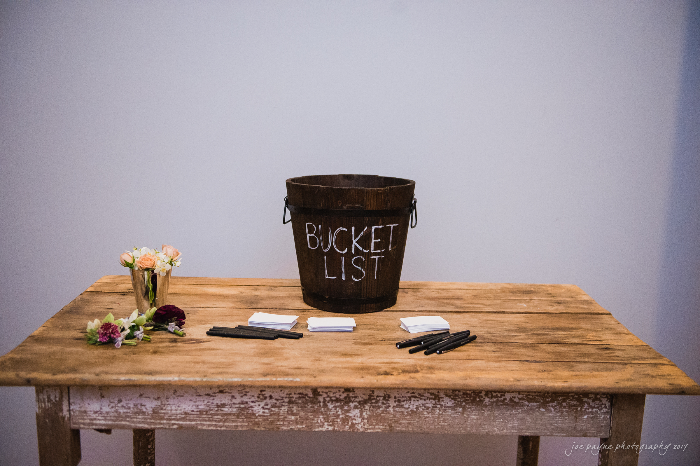 Bucket List  - Guest book with a twist.