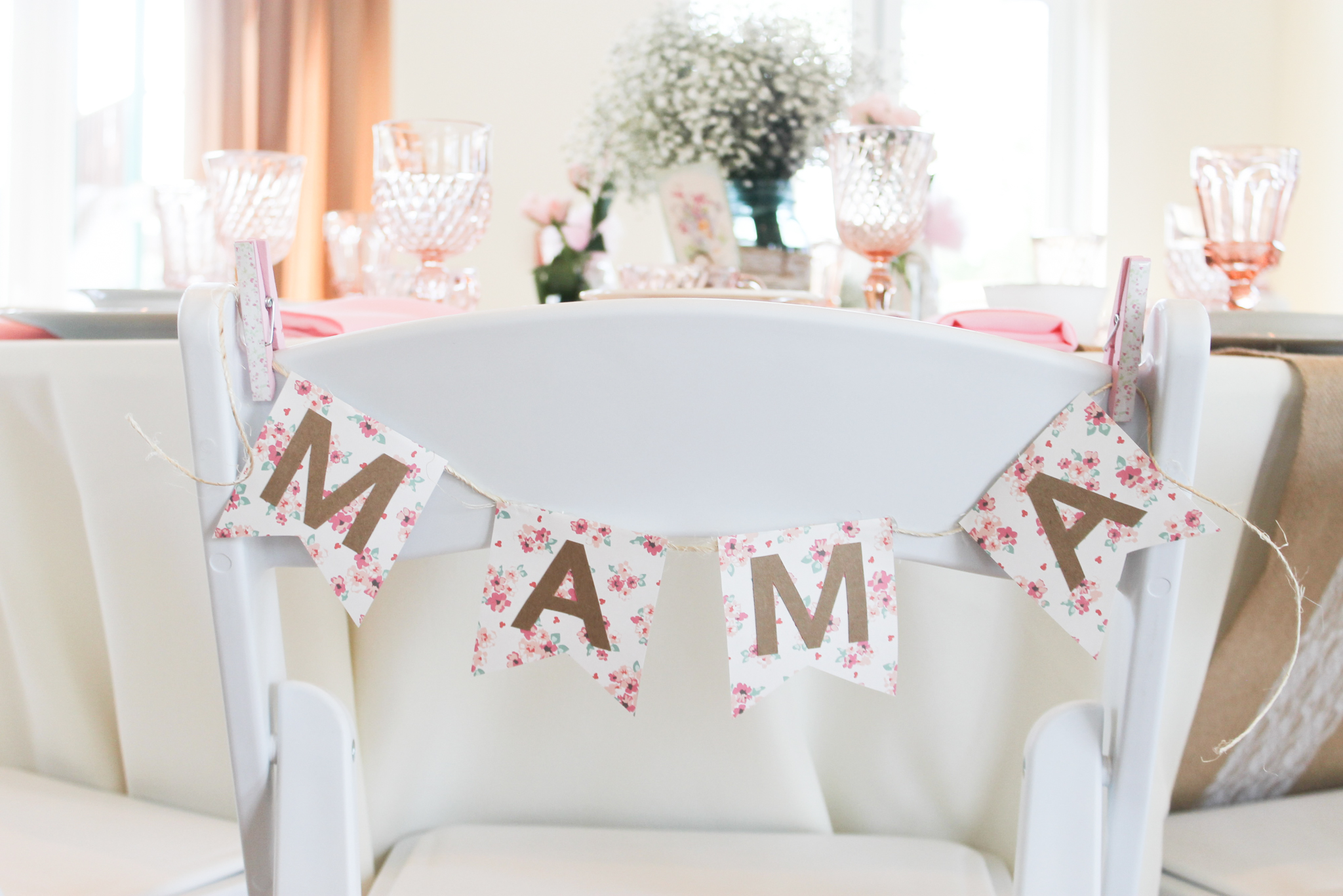 Southern Vintage Baby Shower-table setting Mama banner.jpg