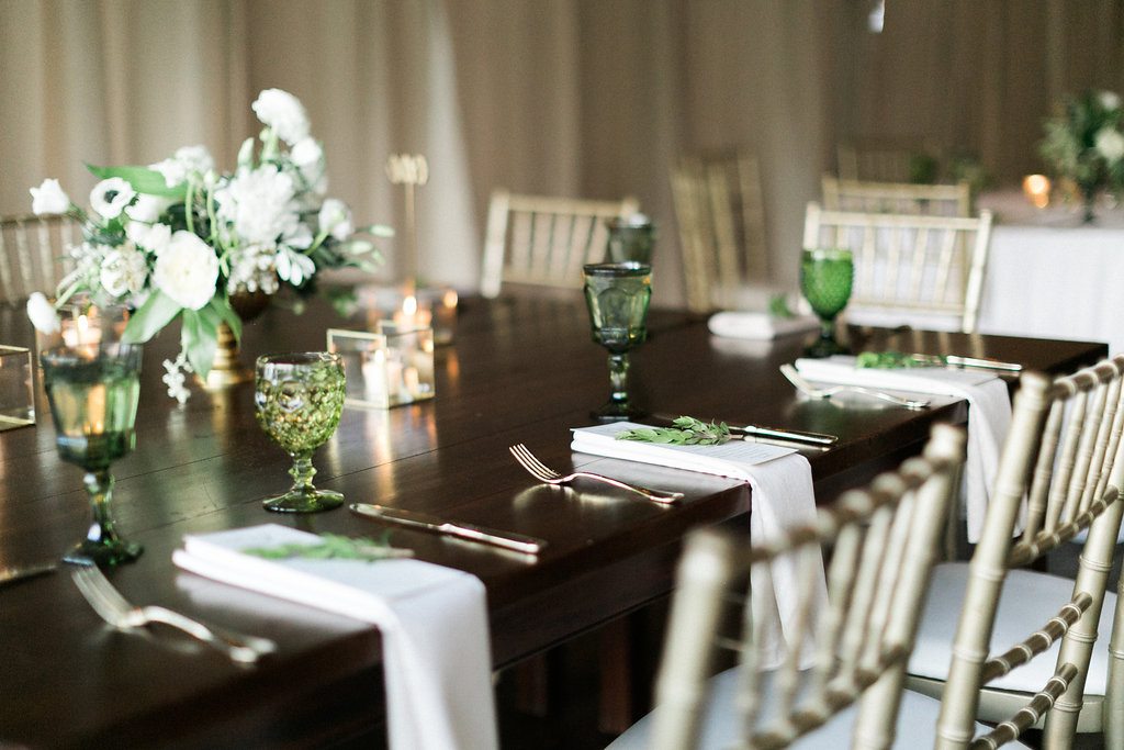 Southern Vintage Green Tablescape