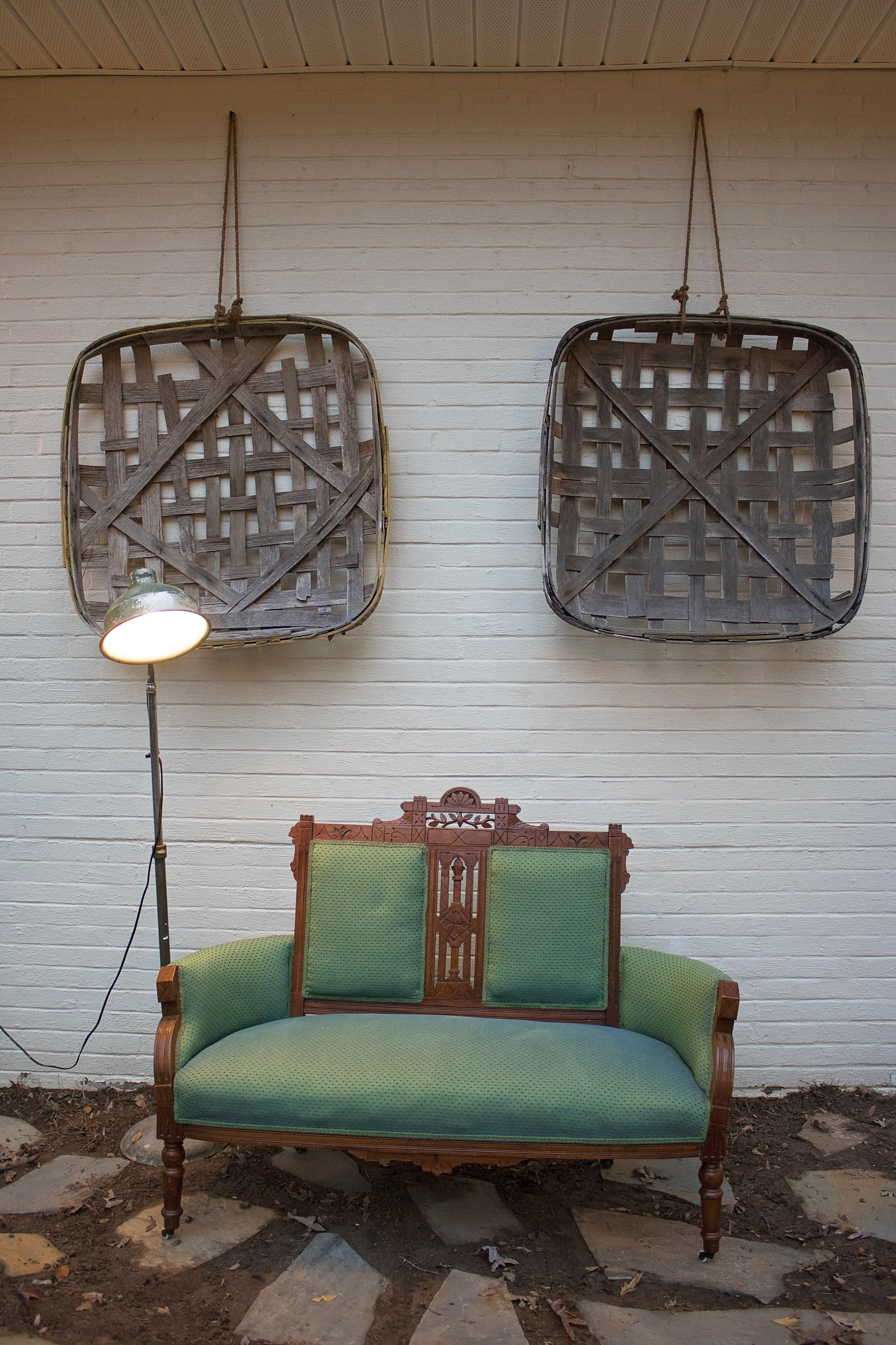 Southern Vintage Green Loveseat