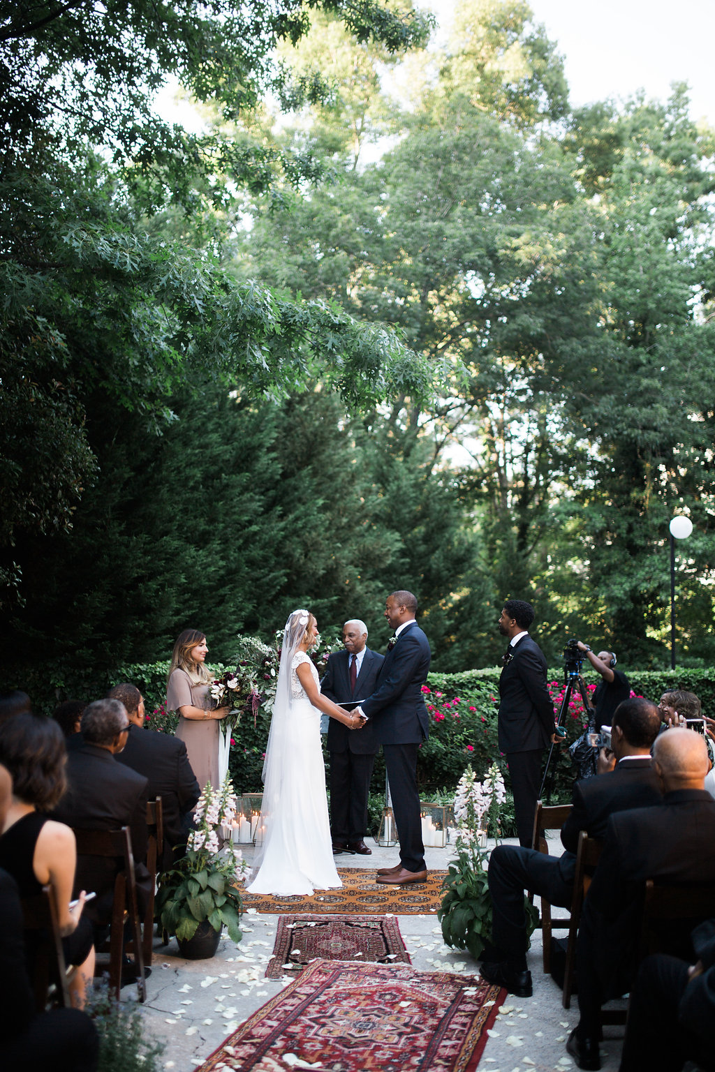 Ceremony Mantel and Lounge Area