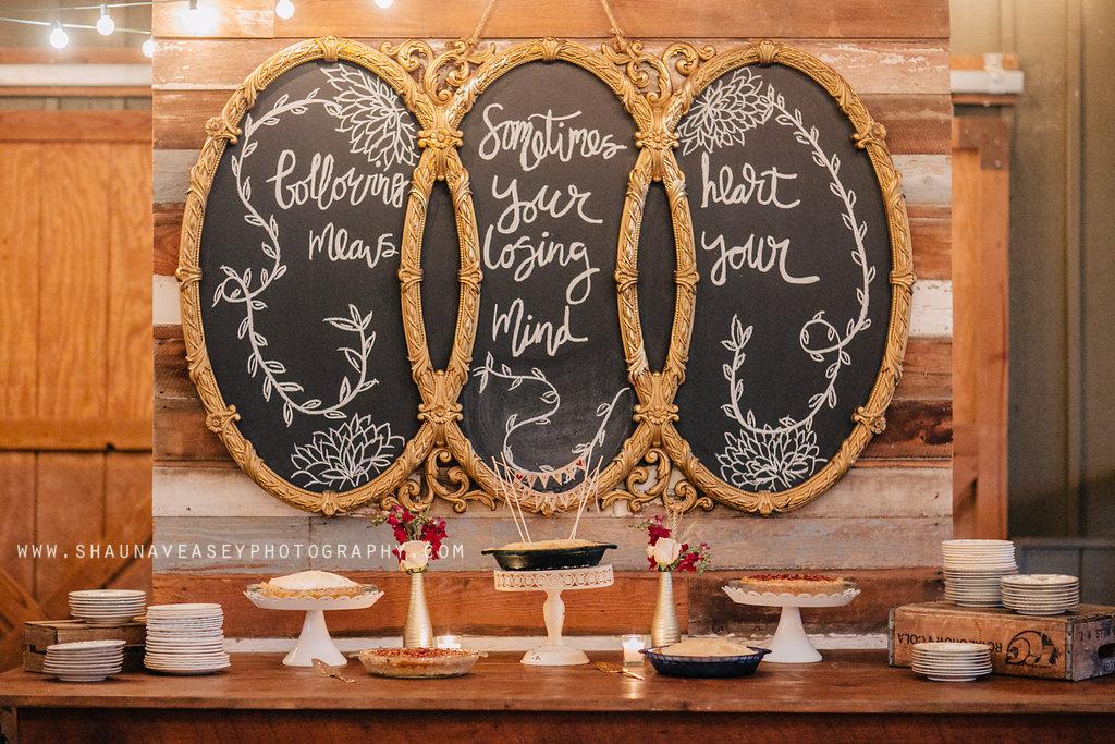 Southern Vintage Chalkboard Dessert Bar