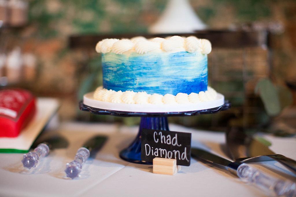 Southern Vintage Blue Dessert Bar