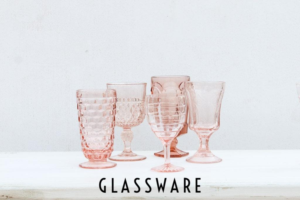 Southern Vintage Glasses - Pink Rental Glassware