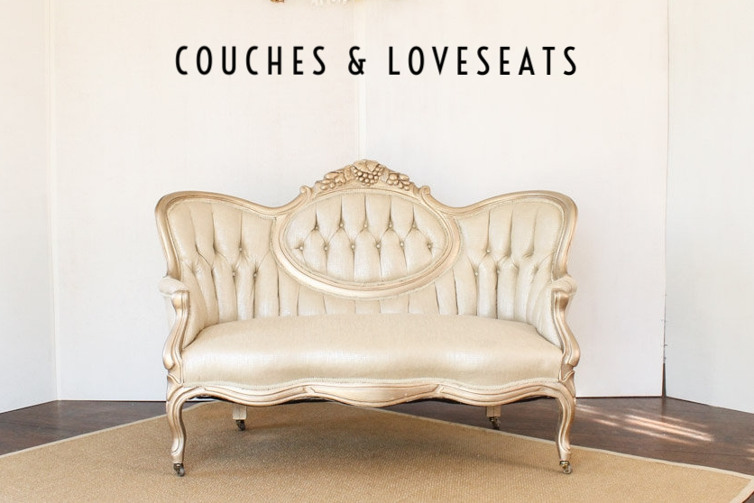 Southern Vintage Lady Sybil Gold Settee Loveseat